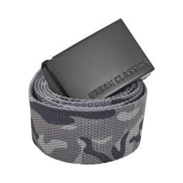 Urban Classics Long Canvas Belt grey camo - 140cm